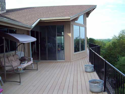 Deck overlooking Landa Park, New Braunfels TX